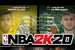 NBA 2K20 - Maccabi Tel Aviv vs Zalgiris Kaunas Gameplay #PCBasket2K20