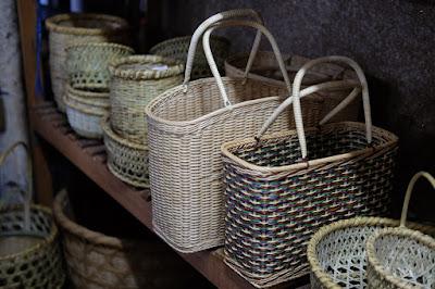 松本市の竹製かご専門店 柏善 上原善平商店 竹かご以外のバッグ
