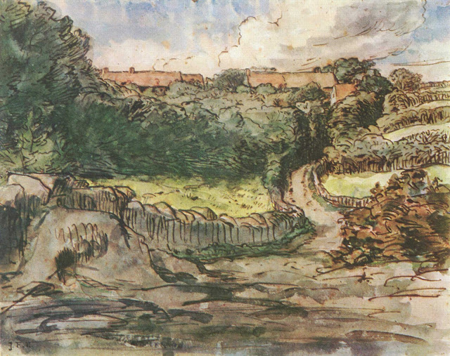 Жан Франсуа Милле - Ферма в Гревилле. 1854