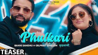PHULKARI SONGS LYRICS – BAANI SANDHU  Dilpreet Dhillon