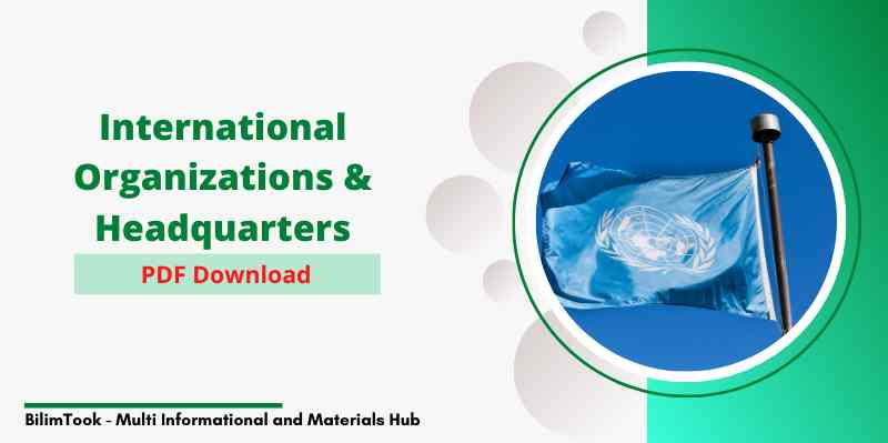 International Organizations & their Headquarters PDF