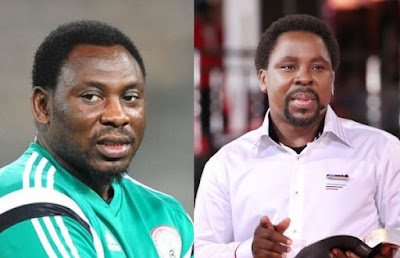 daniel amokachi and tb joshua,amokachi reveals he slept at TB Joshua church for weeks but got no miracle cure for his injury