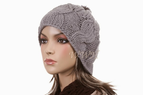 Cute Tufted Beanie Hat Winter Cap Women Be428g Hats Caps ...