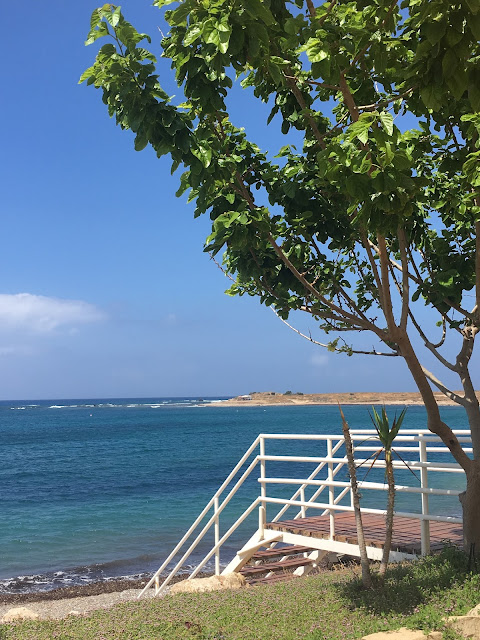 Timi beach, Cyprus, steps from Bonamare beach bar cafe