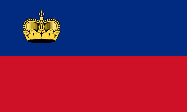 Logo Gambar Bendera Negara Liechtenstein PNG JPG ukuran 600 px