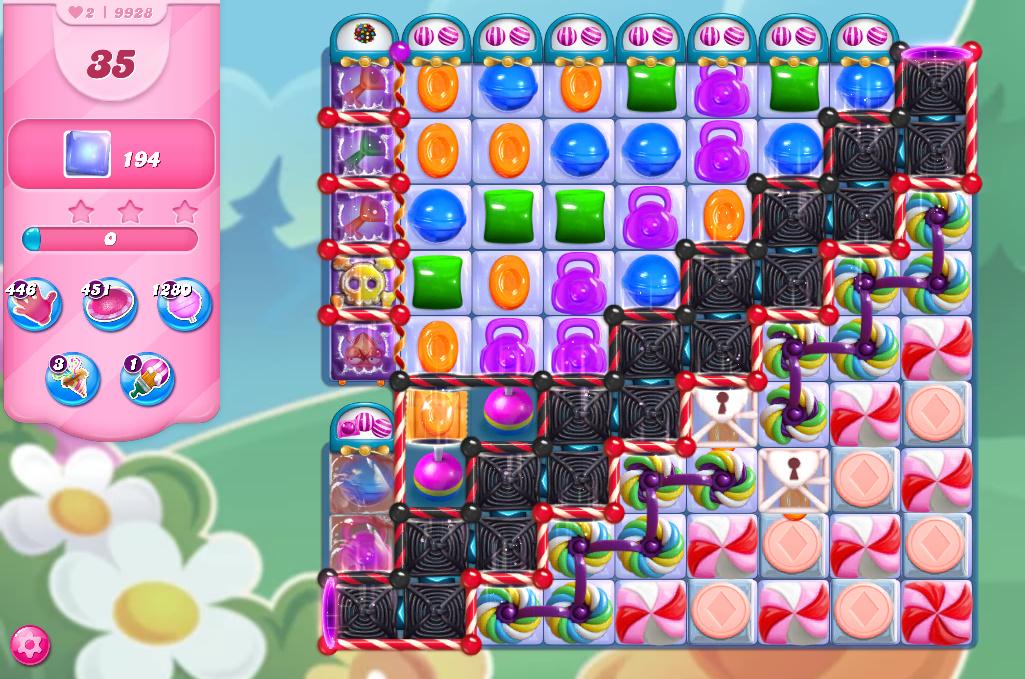 Candy Crush Saga level 9928