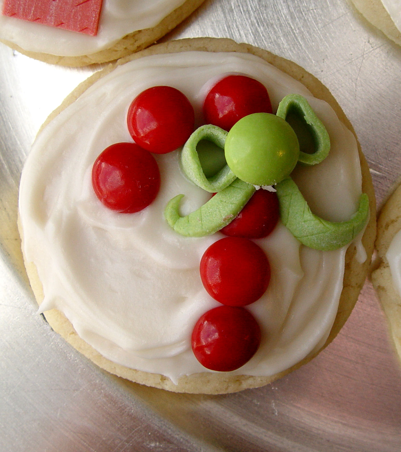 Candy Decorated Christmas Sugar Cookies
