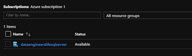 SQL Server created