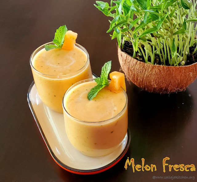 images of Melon Fresca / Tuscan Melon Juice / Melon Juice - Summer Drinks