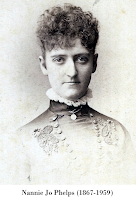 Portrait, Nannie Jo Phelps (1867-1959) On reverse: 'Cousin Nan.'