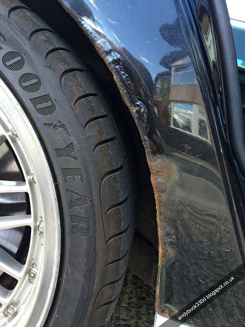 Bmw E46 330d Build Blog Bmw E46 Rear Wheel Arch Rust