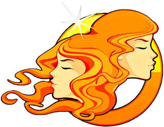Imagen de los gemelos en color dorado que representan al signo zodiacal Géminis