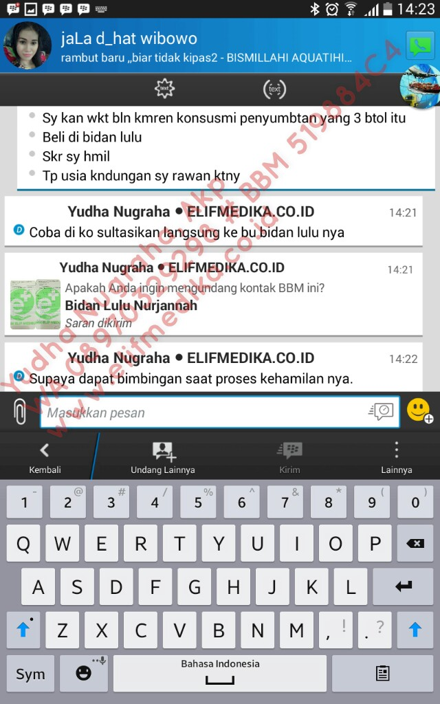 Testimoni Tuba Non Paten Bilateral Setelah Treatment 1 bulan (3 botol herbal tuba), Positif Hamil