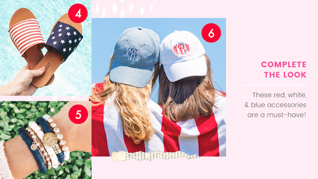 Patriotic Monogrammed Accessories for July 4th