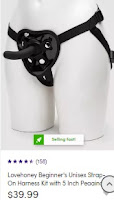 Beginner's Unisex Hollow Strap-On Harness Kit with 5 Inch Pegging Dildo