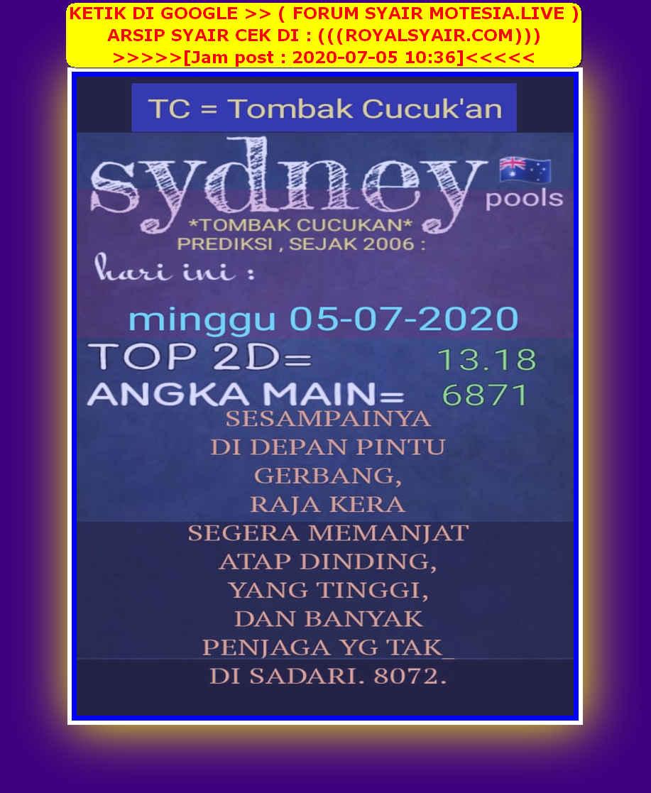 Kode syair Sydney Minggu 5 Juli 2020 28