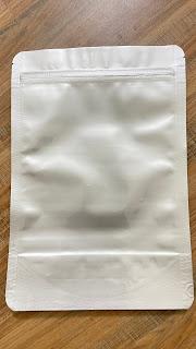 Túi cafe 2 mặt bạc có zipper