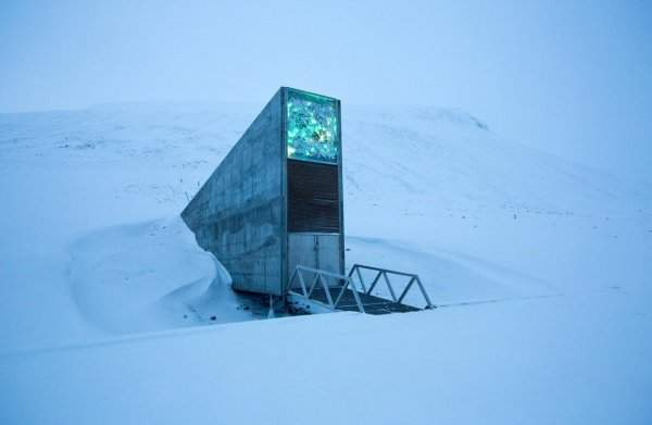 Entrance to the World Seed Vault at Svalbard, Norway