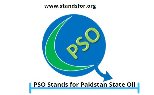 PSO-PSO Stands for Pakistan State Oil