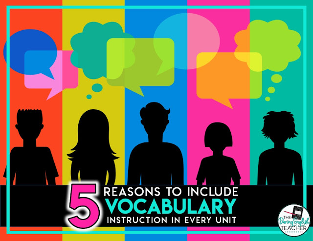 5 Reasons to Include Vocabulary Instruction with Every Unit