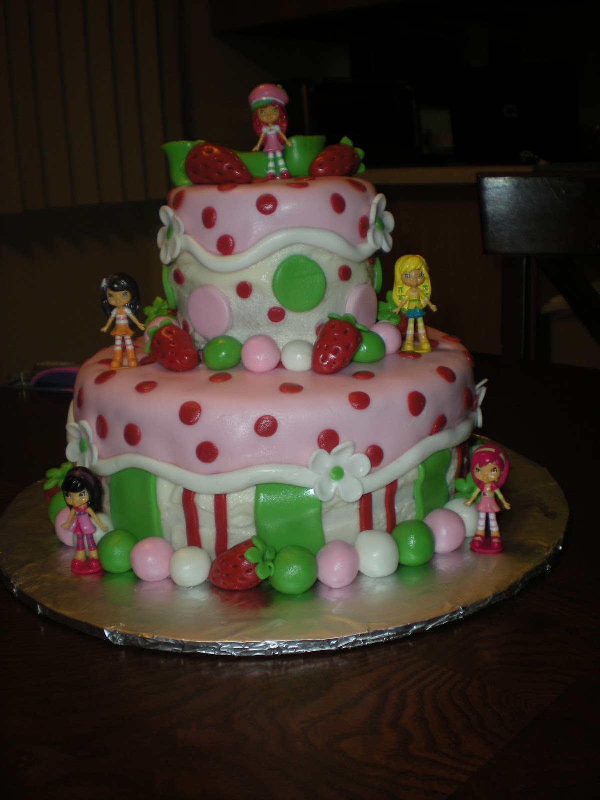 Carlynne S Cakes Strawberry Shortcake Birthday Cake