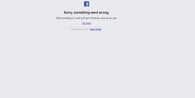 تعطل مفاجئ لموقع فيسبوك facebookdown !