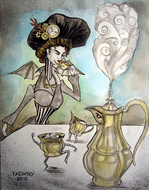 Steampunk Art Tea