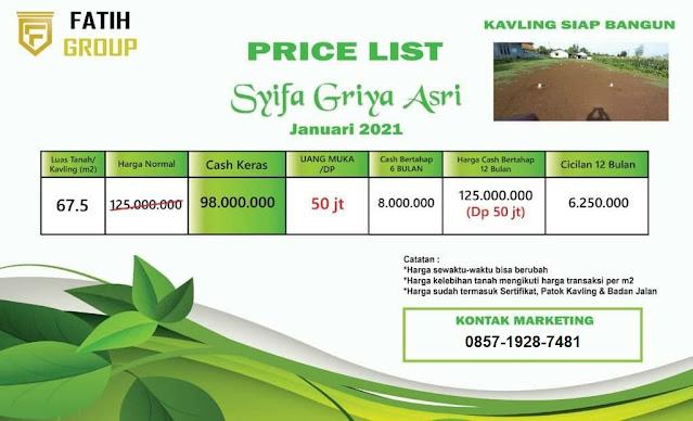 Perumahan Syariah Syifa Griya Asri
