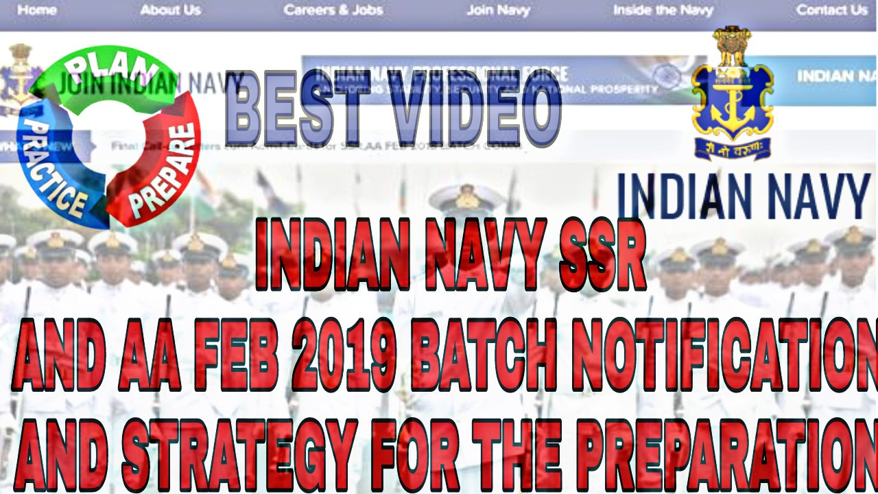 Join Indian Navy SSR sailors and AA 10+2 ENTRY FEB 2019