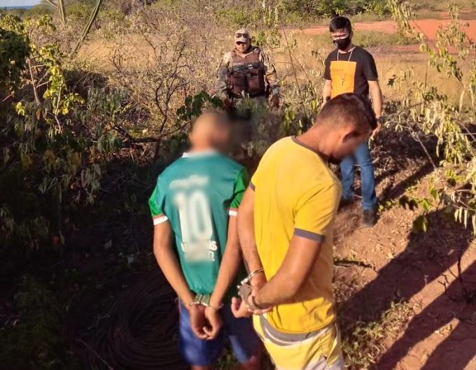Um maior é preso e um menor apreendido acusados de furtarem fios de energia na praia de Morro Pintado em Areia Branca