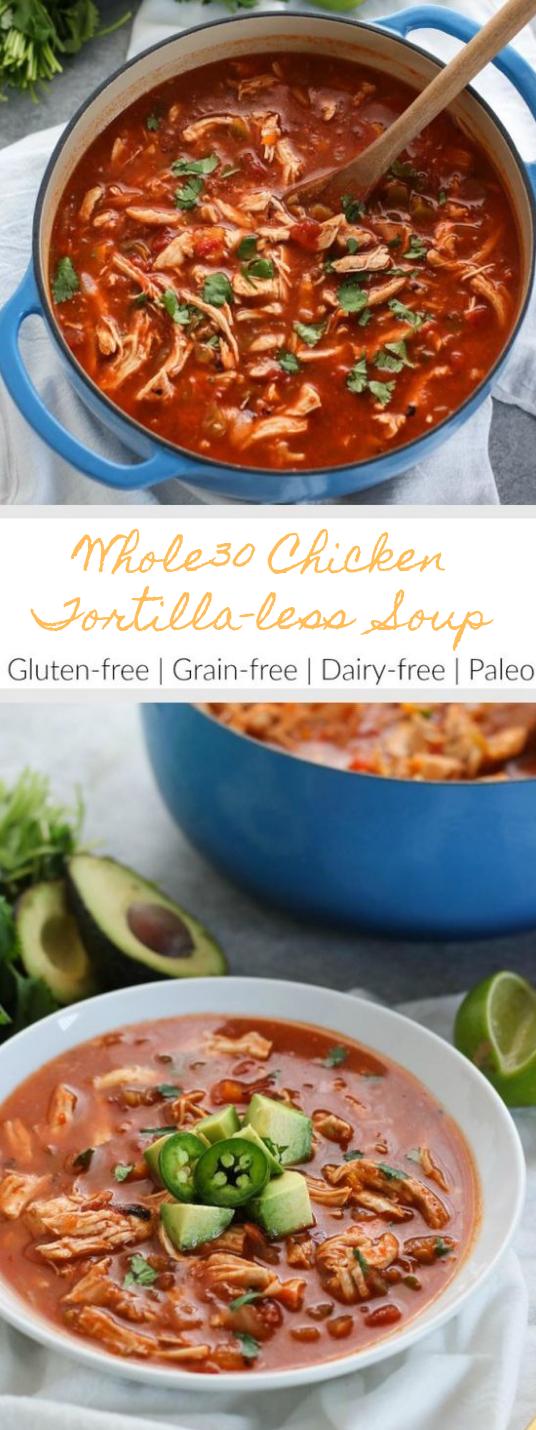 Chicken Tortilla-less Soup #soup #diet