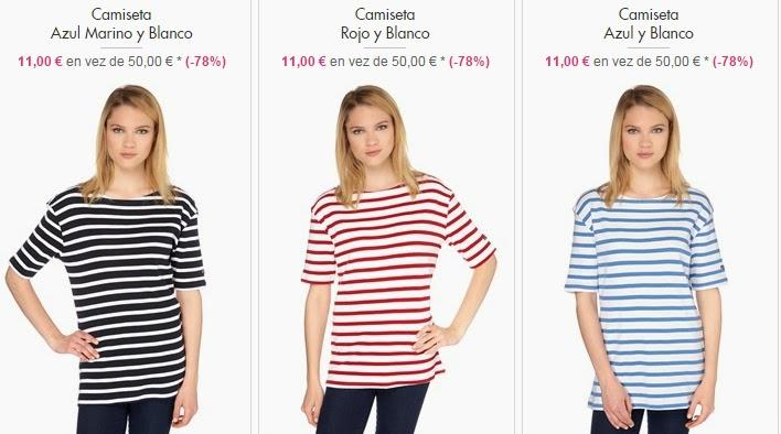 Camisetas mujer marineras