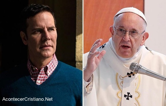 Juan Carlos Cruz y el papa Francisco