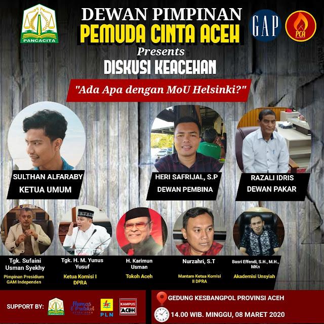 Pemuda Cinta Aceh Adakan Diskusi Keacehan