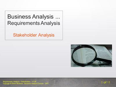 Requirements Analysis - Stakeholder Analysis