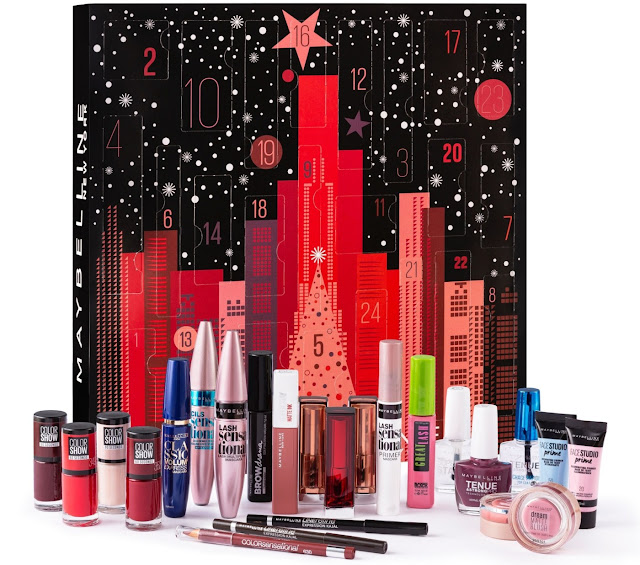 24 surprises that includes 8 full-size products, 10 mini products and 6 extra gifts to keep you going until Christmas.