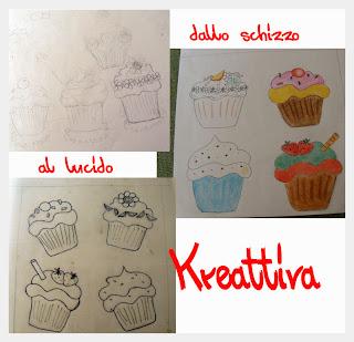 disegni cupcake