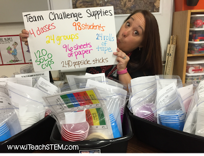 Teacher hack: Here are 3 ways I've found to use color coding labels from the office supply isle to manage the craziness that can occur in my class during a group STEM challenge.