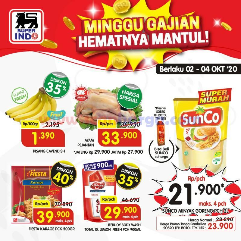 Promo Superindo Diskon Seru Gajian Periode 2 - 4 Oktober 2020