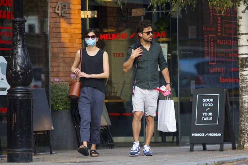 Gemma Chan and Dominic Cooper Clicked While Shopping in London 12 Aug -2020