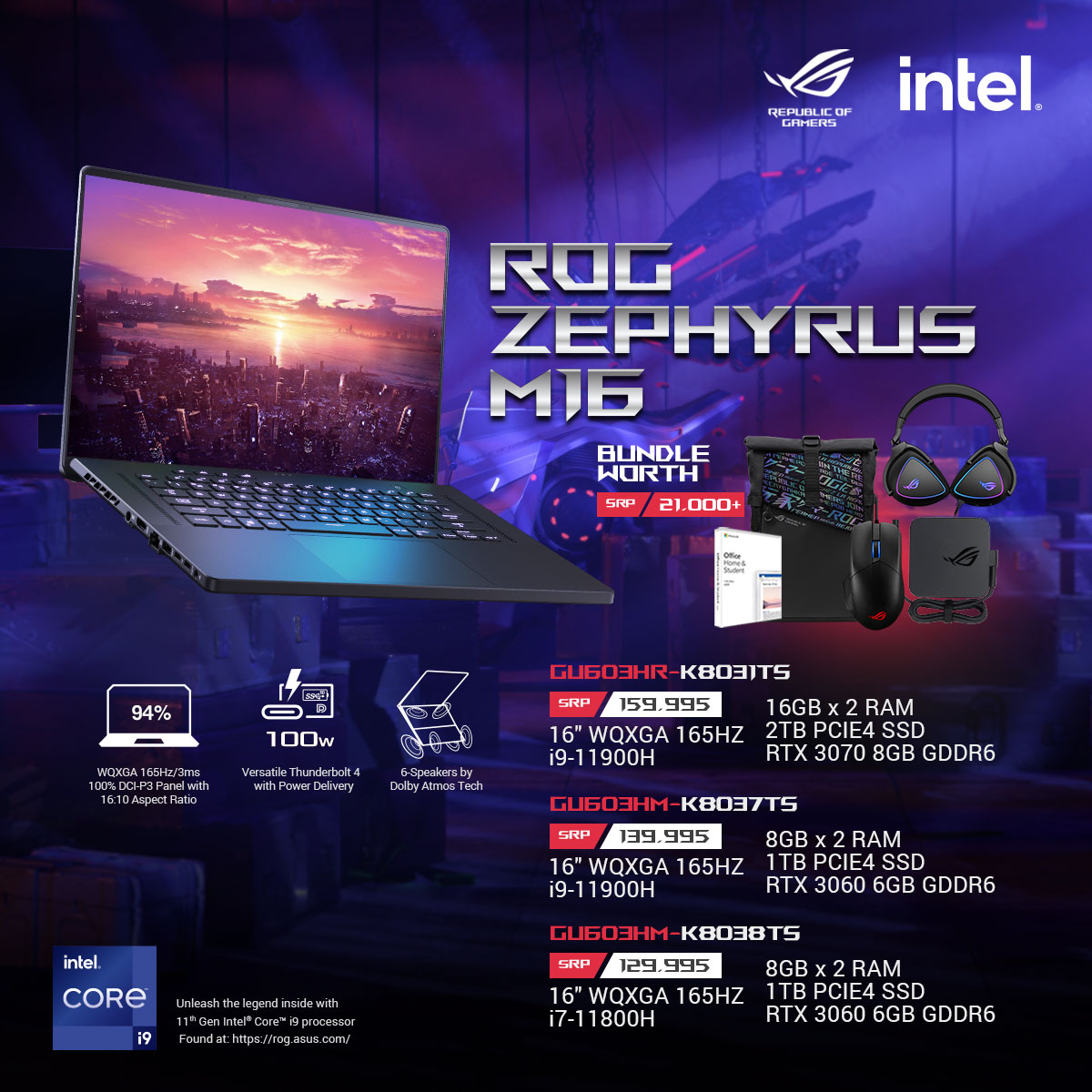 ROG Zephyrus M16 Key Features and Price