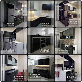 kitchen set hitam
