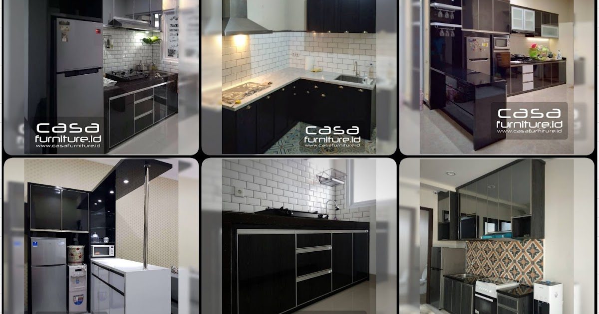 Kitchen set mininalis warna hitam - Furniture minimalis ...