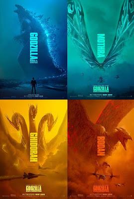Los monstruos principales del Film Godzilla 2