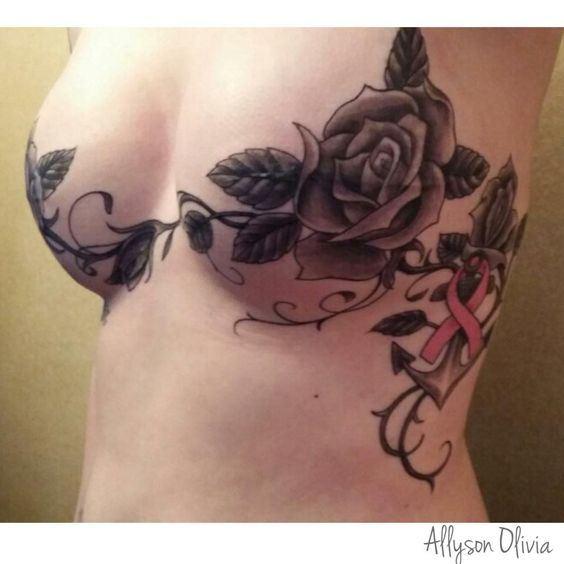 Mytattooland com  Breast Tattoos Designs Awesome Breast Tattoo Designs