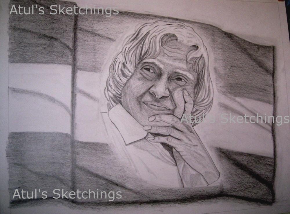 Atul's Sketchings: A.P.J. Abdul Kalam (Avul Pakir ...