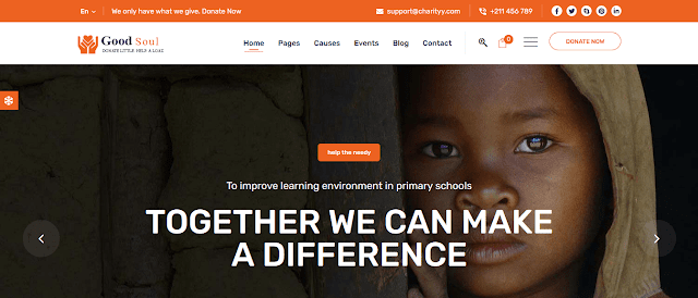 Nonprofit Fundraising & Charity WordPress Themes With Donation System    GoodSoul