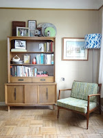 Wooden mid-century bookcases