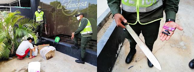 Venezolanos tenía una 'olla' en la calle primera de Riohacha